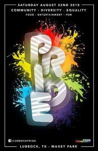Lubbock Pride Festival @ Maxey Park | Lubbock | Texas | United States