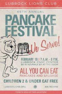 65th Annual Pancake Festival @ Lubbock Memorial Civic Center | Lubbock | Texas | United States