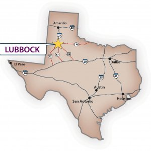 Lubbock Texas Map
