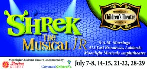 Moonlight Children's Theatre SHREK JR @ Moonlight Musicals Amphitheatre | Lubbock | Texas | United States