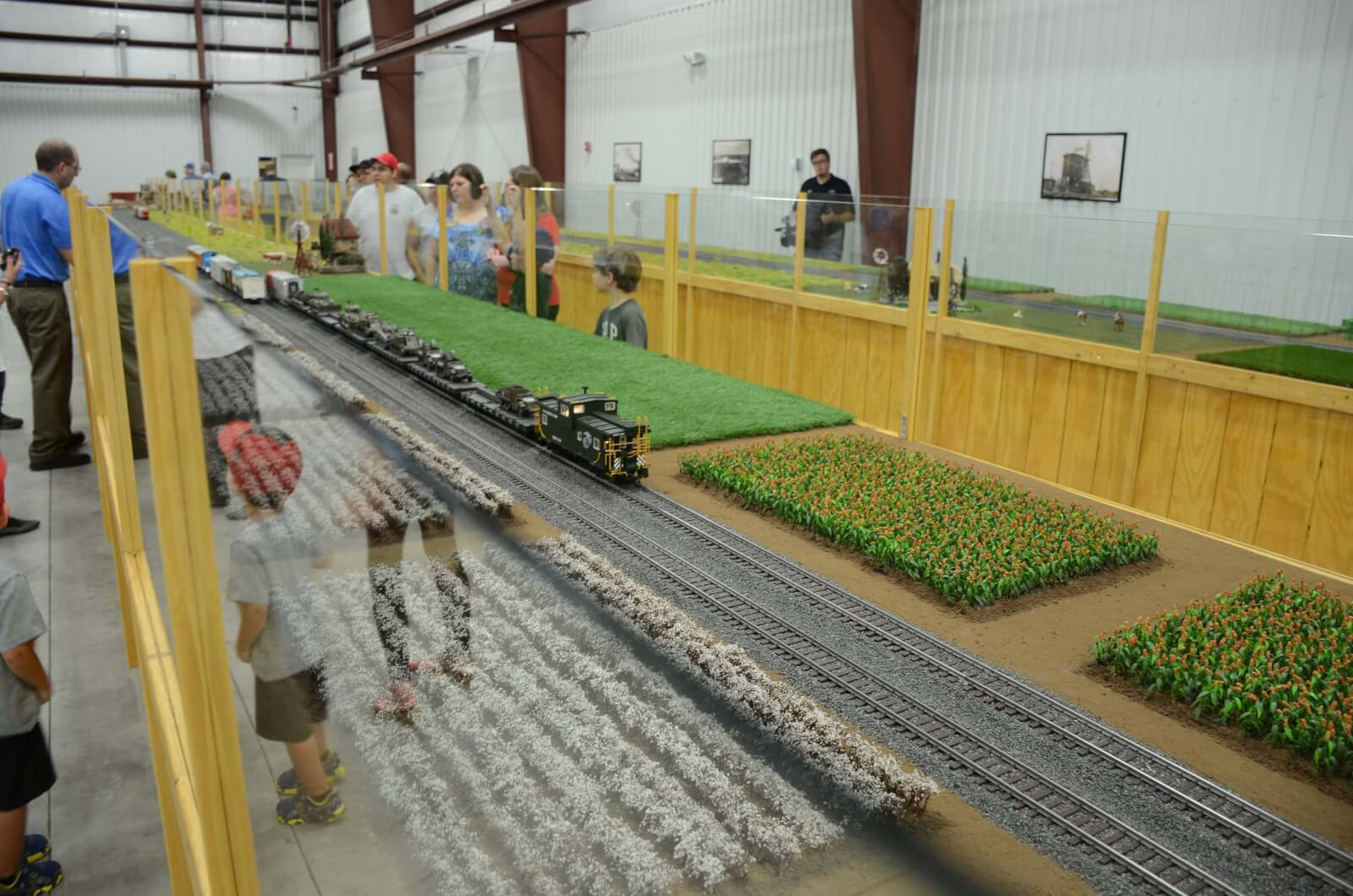 Portion of the G-scale train display