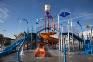 The splash pad and slides are highlights for families looking to cool down.