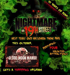 Nightmare on 19th Street @ Lonestar Events Center | Lubbock | Texas | United States