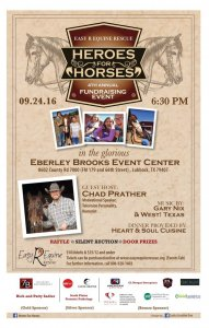 4th Annual Heroes for Horses @ Eberly Brooks Events   Lubbock   Texas   United States