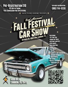 Fall Festival and Car Show @ South Plains Academy | Lubbock | Texas | United States