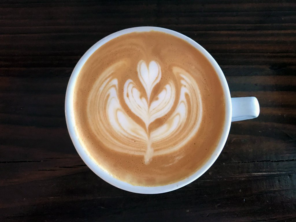 The signature drink with tulip latte art