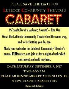 28th Annual Gala for the Lubbock Community Theatre @ McKenzie-Merket Alumni Center | Lubbock | Texas | United States