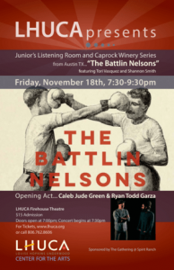 """LHUCA Presents: """"The Battlin' Nelsons"""" featuring Tori Vasquez & Shannon Smith @ Firehouse Theater at LHUCA 