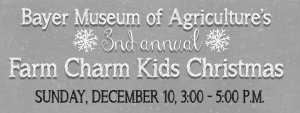 3rd Annual Farm Charm Kids Christmas @ Bayer Museum of Agriculture | Lubbock | Texas | United States