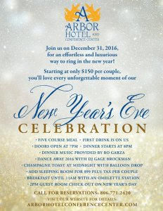 Arbor Hotel New Year's Eve Celebration @ Arbor Hotel and Conference Center | Lubbock | Texas | United States