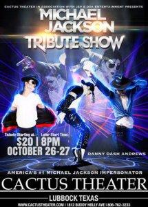 Michael Jackson Tribute Show @ Cactus Theater | Lubbock | Texas | United States