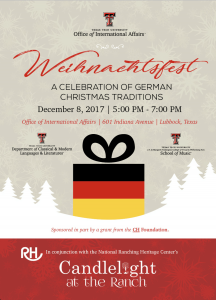 Weihnachtsfest: A Celebration of Christmas Traditions @ Office of International Affairs   Lubbock   Texas   United States