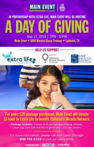A Day Of Giving @ Main Event | Lubbock | Texas | United States