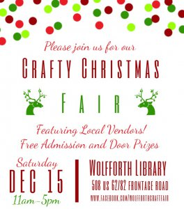 Craft Christmas Fair @ Wolfforth Library