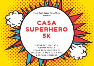 Tech Theta CASA Superhero 5K and Fun Run @ Texas Tech University Recreation Center Sports Fields