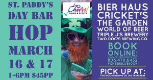 Cheers St. Paddy's Day Bar Hop @ Two Doc's Brewing Co.         