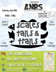 Scales, Tails and Trails @ Lubbock Lake Landmark
