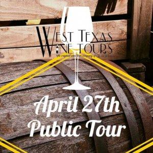 April 27th Public Wine Tour @ West Texas Wine Tours
