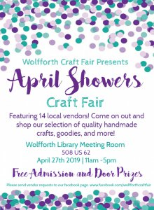 April Showers Craft Fair @ Wolfforth Library Meeting Room