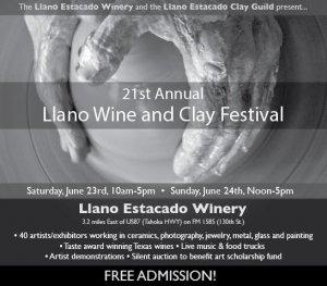 22nd Annual Wine and Clay Festival @ Llano Estacado Winery |  |  |