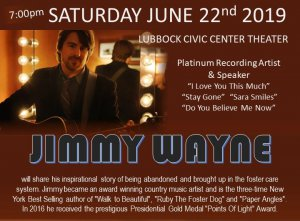 Jimmy Wayne - Up Close & Personal @ Civic Center Theater - Lubbock Texas