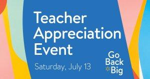 Teacher Appreciation Event @ Walmart Lubbock - S Loop 289
