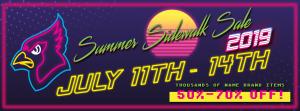 Summer Sidewalk Sale @ Cardinal's Sport Center