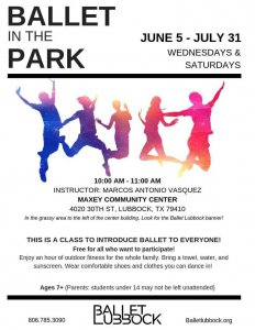 Ballet in the Park @ Maxey Community Center