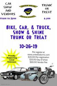Show In Shine Car/Bike/Truck Show Trunk or Treat @ Bad Axe Raider