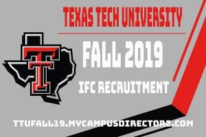 Texas Tech Interfraternity Council Fall Recruitment 2019 @ Greek Circle