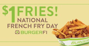 National French Fry Day! @ BURGERFI (Lubbock, TX)