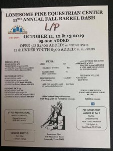 11th Annual Fall Barrel Dash @ Lonesome Pine Equestrian Center