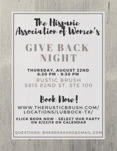 Rustic Brush Fundraiser @ The Rustic Brush