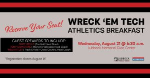 2019 Wreck 'Em Tech Athletics Breakfast @ Lubbock Memorial Civic Center