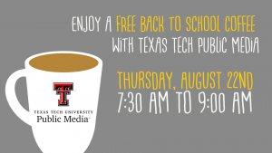 Free Coffee with KTTZ! @ Texas Tech Plaza