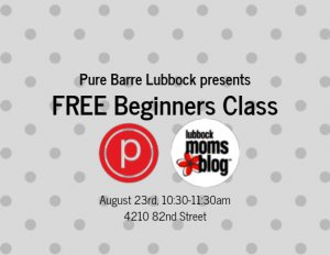 Lubbock Moms Blog - Pure Barre for Beginner's @ Pure Barre
