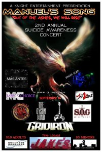 2nd Annual Suicide Awareness Benefit Concert @ Jake's Backroom