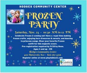 Frozen Party @ Hodges Community Center