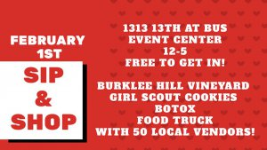 Valentine's Sip and Shop