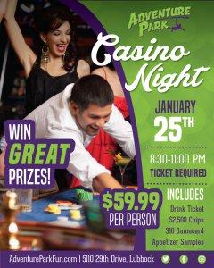 Casino Night at Adventure Park! @ Adventure Park