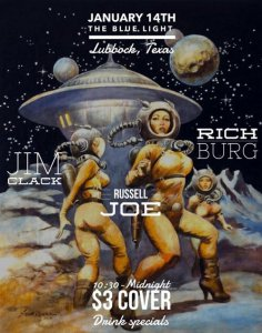 RICH BURG, RUSSELL JOE, JIM CLACK @ The Blue Light